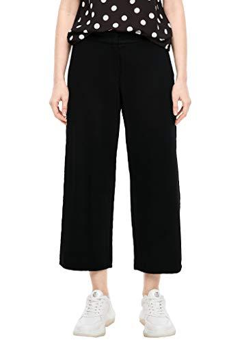 s.Oliver Damen Regular Fit: Culotte aus Interlock Black 32