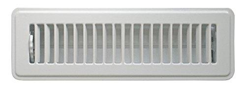 Accord Abfrwh410 Sol enregistreuse avec aération, motif 10,2 cm X 25,4 cm (Duct Ouverture Mesures), blanc, ABFRWH210