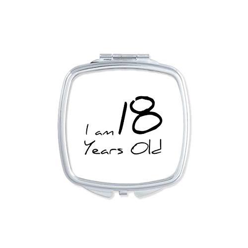 DIYthinker 70 Ans Boy Âge Old Square Makeup Compact Miroir de Poche Miroirs Mignon Petit Cadeau Portable à la Main Multicolor