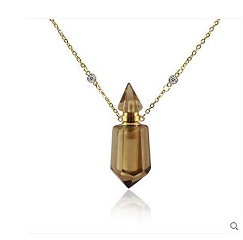 CAISHENY Collar Señora Collar de Aceite Esencial Perfume Aroma Difusor Botella Colgante Cadena de clavícula Simple