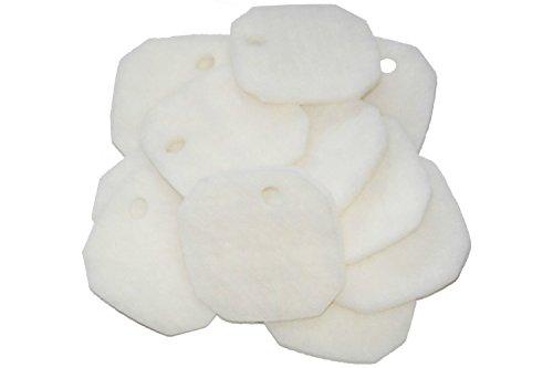 ブランドない白い羊毛ポリエステル濾過スポンジ AquaOne Aqua One AQUIS 1200/1250 and 1000/1050 に適用できる50個入