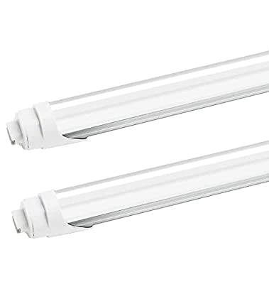 JESLED R17D/HO 8FT LED Light Bulb - LED Tubes 45W Rotate, 6000K Cool White, 4800LM, Frosted Cover, T8/T10/T12 Dual Ended Power, Ballast Bypass, F96T12/CW/HO LED Replacement(2-Pack)