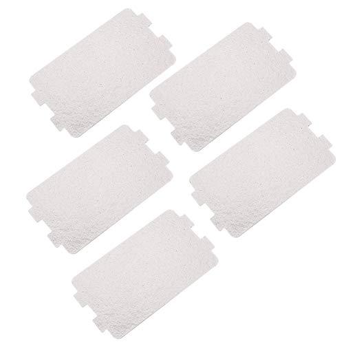 5 Teile satz Reparaturteile für Mikrowellenherde Glimmerplatten-Blätter Ersatzzubehör Wellenleiterabdeckung zum Hauptküche Büro
