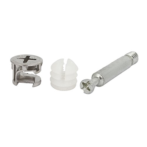 Flyshop Meubelkabinet Connector #261 Cam Lock Fittings 6.5mm Dia 32mm Lengte Deuvels Opening Noten 10 Sets