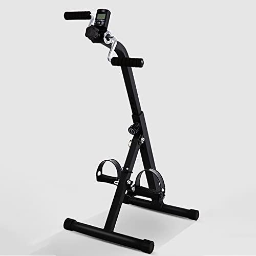 HXFENA Bicicleta Estática,Entrenador De Pies Y Manos Portátil con Pantalla,Bicicleta De Fitness para Entrenamiento De Rehabilitación De Hemiplejia por Accidente Cerebrovascular