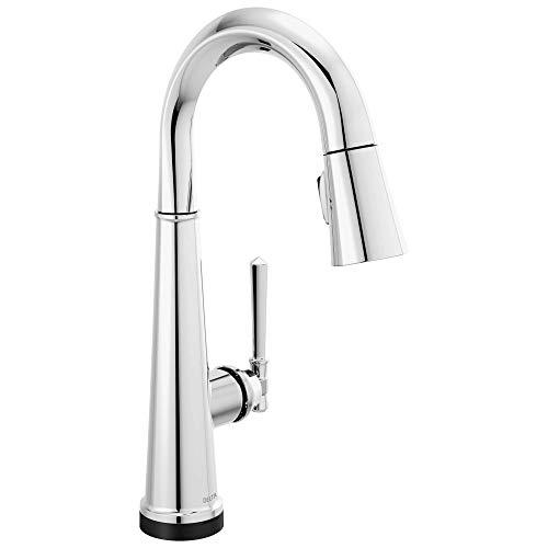 Delta Faucet Emmeline Single-Handle Touch Bar Faucet, Bar Sink Faucet, Prep Sink Faucet with Touch2O Technology, Lumicoat Chrome 9982T-PR-DST