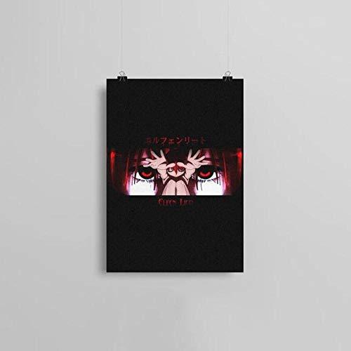 Leinwandbild, Motiv Elfen Lied Anime, nordischer Stil, Heimdekoration, Gemälde, Poster für Wohnzimmer Cuadros, BO YXCV1908-05, 45 x 60 cm, ohne Rahmen