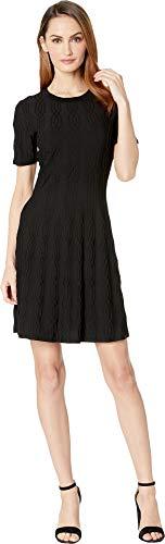 CATHERINE CATHERINE MALANDRINO Short Sleeve Sweater Dress Black LG