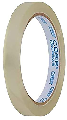 "Oasis 1/4"" Wide Clear Tape Floral Design Tape with Flower"