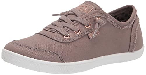 Skechers BOBS Women's 33492 Sneaker, Taupe, 9