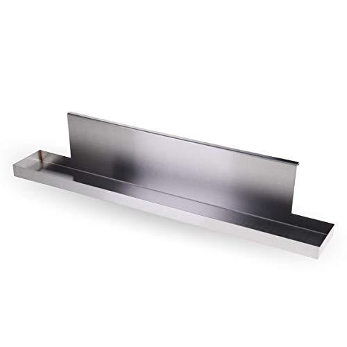 SANTOS Edelstahl Abtropfblech, Fett-Auffangschale geeignet für Broil King Signet Serie Gasgrill, verhindert Fettflecken auf dem Boden, Länge 65 cm