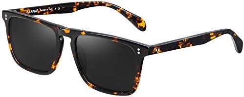 Carfia Classic Rectangle Polarized Sunglasses for Men UV Protection Acetate Frame Outdoor Eyewear product image