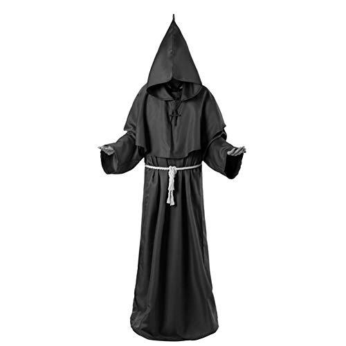LXJ Halloween, Halloween Party Props, Decoraties, Horror Grim Reaper Kostuum Mannen Vintage Monnik Cosplay Mantel Robe Enge Wizard Kostuum Halloween Kostuums Voor Vrouwen Jurk