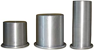 Prime Bakers and Moulders Aluminium Candle Making Moulds Pillar Shape, Three Sizes