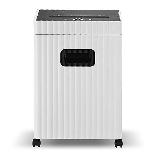 New LEFJDNGB Shredder 8-Sheet Micro-Cut Paper/CD/Credit Card Shredder,10 Mintues Continuous Running with 4 Easy Move Casters,High Security P-5,White