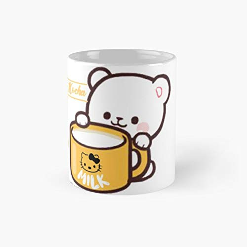 Milk And Mocha Teddy Bear Day I Love You Valentine Lightweight Hoodie Classic Mug Best Gift Funny Coffee Mugs 11 Oz