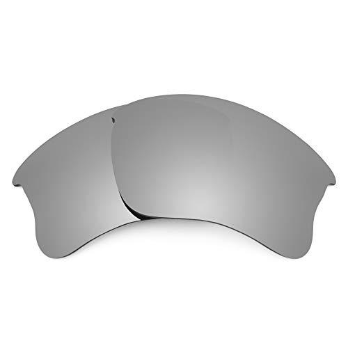 Revant Ersatzgläser für Oakley Flak Jacket XLJ (Asiatische Passform), Nichtpolarisiert, Titan MirrorShield