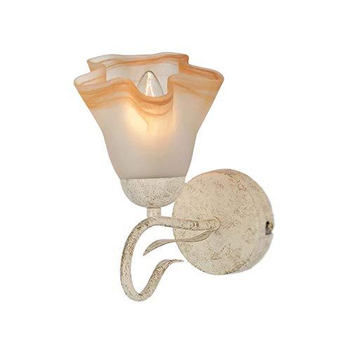 QIYUE Amerikaanse retro glazen wand lamp veranda gangpad spiegel front villa bedlampje woonkamer slaapkamer gang trap balkon recreatiecentrum plaats woondecoratie LED wandlamp
