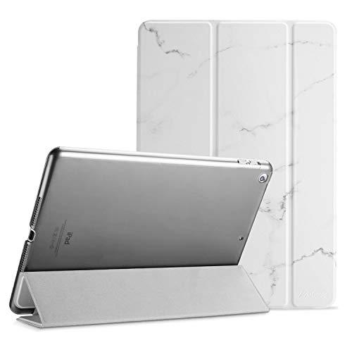 ProCase Hülle für iPad 9.7 2018 iPad 6 Gen /2017 iPad 5 Gen Schutzhülle Case Cover,Dreifach Ultra Dünn Leicht Klapphülle mit Transluzent Rückseite Smart Cover für ipad 9.7 Zoll –Marmor Weiß