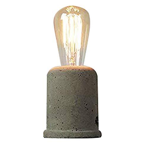 IJ INJUICY Vintage Cement Concrete Table Lamp-Loft Retro Style Desk Lamps For Living Room Decor