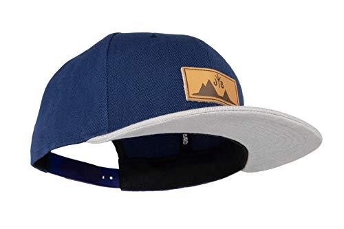 Jumping Bird Snapback Cap für Damen und Herren - Baseball Mütze verstellbar stylisch und hochwertig als Accessoire für jedes Outfit, Jeansblau, Einheitsgröße
