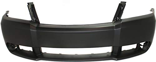 Front Bumper Cover Compatible with 2008-2010 Dodge Avenger Primed with Fog Light Holes