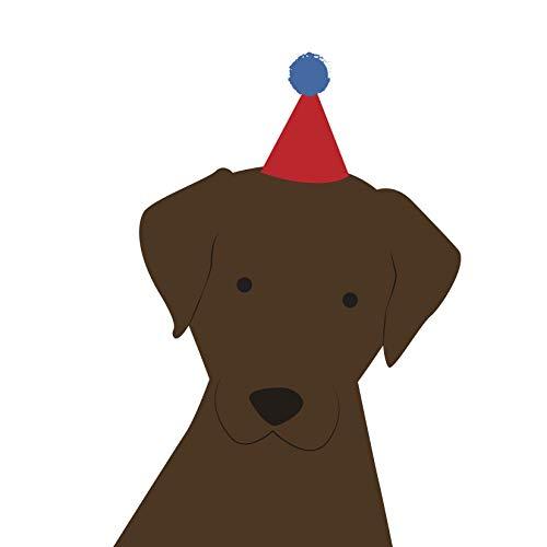 Labrador (bruin) Verjaardagskaart door Heather Alstead