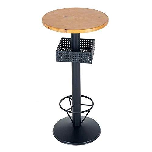 KaidanBar Taburete para Silla Alta Taburete de Bar Taburetes de Bar giratorios de Altura Ajustable Altura del mostrador Asiento de Madera Maciza Base de Metal para Cocina, bistró, café, Pub