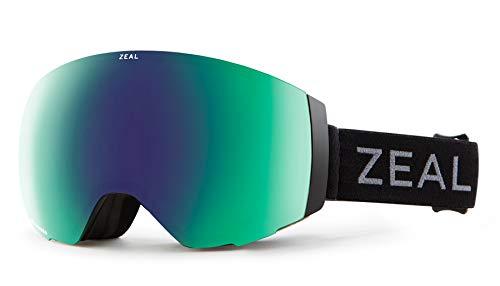 Zeal Optics Portal - Frameless Ski & Snowboard Goggles For Men & Women – Dark Night w/ Optimum Polarized Jade Lens
