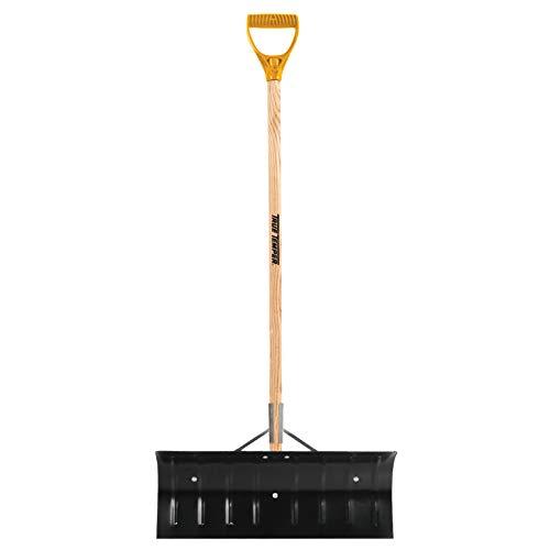 True Temper 1639300 Steel Snow Pusher with D-Grip Hardwood Handle, 24...