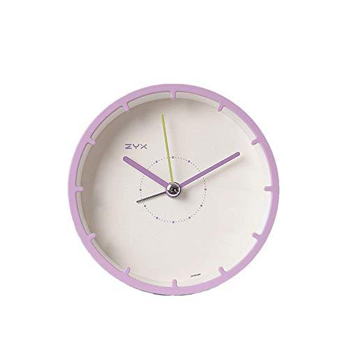 QLKJ wekker, wekker, compacte persoonlijkheid, decoratie, eenvoudige nachtrust, kleine wekker, mini-student, met roze
