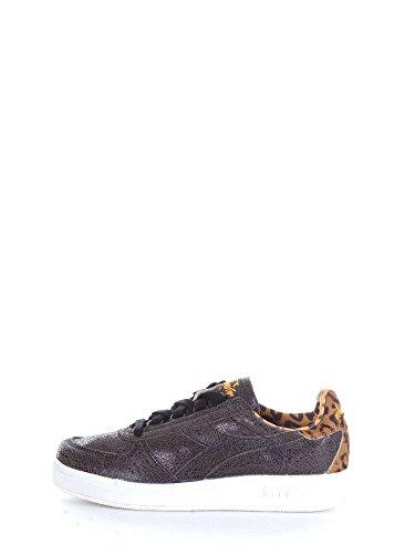 Diadora Heritage, Donna, B. Elite W Animalier Black, Pelle, Sneakers, Nero, 39 EU