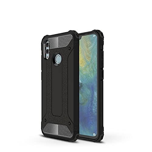 GUOQING Carcasa de telefono Funda Protectora para Huawei Honor 10 Lite Case, para Huawei Honor P Smart 2019 Case, TPU + PC Dual Capa Dual Layer Hybrid Hybrid Protective Case (Color : Black)