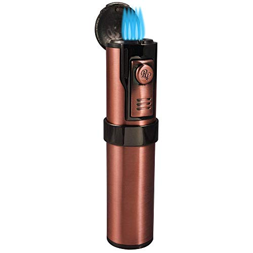Rocky Patel Cigar Lighter Diplomat 5 Torch Lighters with Punch - Copper