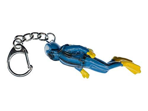 Miniblings Taucher Schlüsselanhänger Anhänger Skuba Diving Scuba Tauchen blau