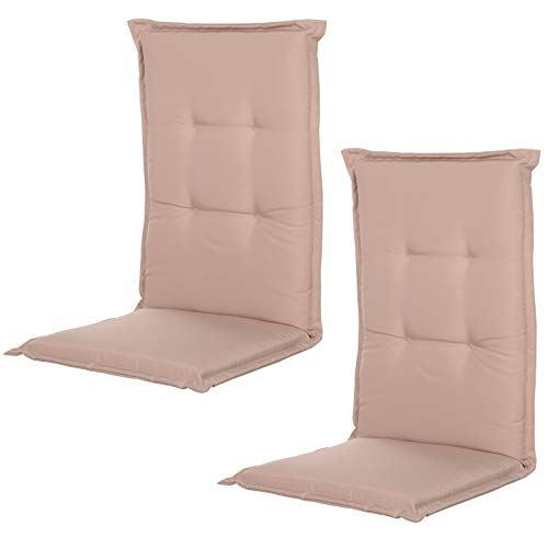 Outsunny Outdoor Garden Patio Folding High Back Chair Cushion Replacement Seat Pad - Beige