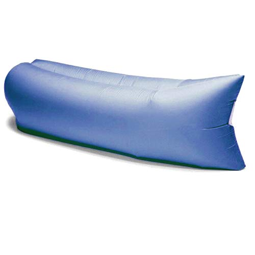 Divano gonfiabile ad aria Comfort Bag con sacca di trasporto, lettino gonfiabile blu in nylon ripstop mis. 200x80x60cm circa, materassino gonfiabile aria per mare, spiaggia, piscina,vacanze,campeggio