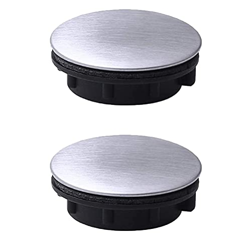 2 uds, Tapa de orificio de grifo, tapa de orificio de fregadero de acero inoxidable, tapa de orificio de fregadero, placa de parada, tapón ciego para baño, cocina