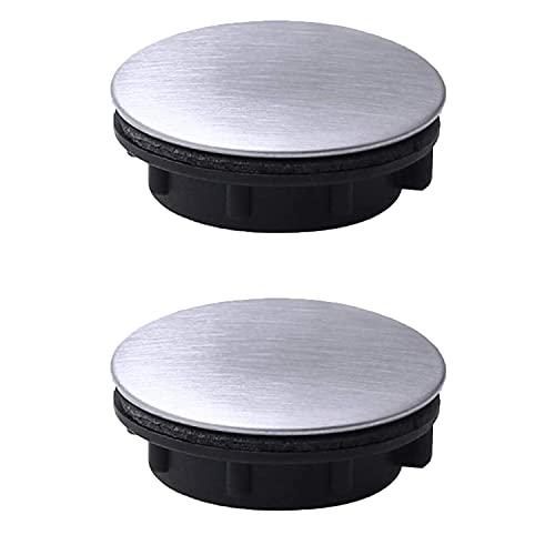 2 pezzi copertura foro nastro lavello copertura foro rubinetto in acciaio inox tappo piastra foro lavello per cucina bagno (foro di installazione per 0,98-1,18 pollici)