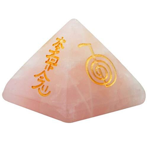 ZTTT Rosa Quarzpyramiden-Kristallpunkt