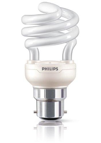 Philips Ampoule FluoCompacte Spirale Culot B22 12 Watts Consommés Équivalence Incandescence : 60W