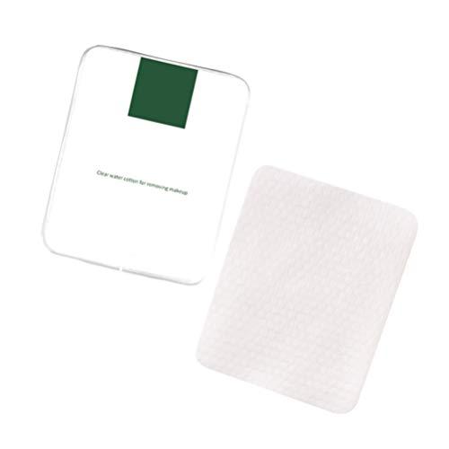 Minkissy Coffret cosmétique de tapis cosmétique de l'eau d'acide aminé de tampons pour le maquillage pour enlever le voyage portatif 30pcs dans une boîte