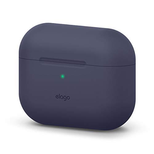elago Original Funda Silicona Compatible con Apple AirPods Pro (2019) - 360° Protección de Cuerpo Completo, Premium Silicona [Ajuste Probado] (Jean Indigo)