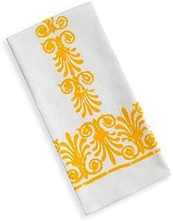 Vera Neumann Ladybug Kitchen Tea Towel, Yellow Scroll Graphic