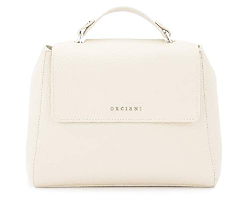 Orciani Orciani Sveva Small Handbag In Ivory Grained Leather White