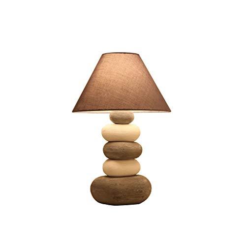 Lámpara de mesa para dormitorio de noche creativa de cerámica americana sencilla moderna y cálida lámpara de noche RollSnownow