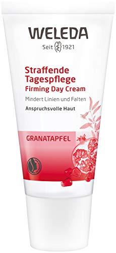 WELEDA Granatapfel Straffende Tagespflege, mindert Falten und erhöht die Elastizität und Spannkraft der Haut, Naturkosmetik Hautcreme für straffere Gesichtszüge (1 x 30 ml)