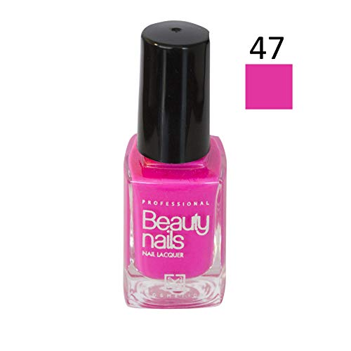 BEAUTY Nails professionele nagellak 47 Fluor Pink Chicle, 1-pack (1 x 14 ml)