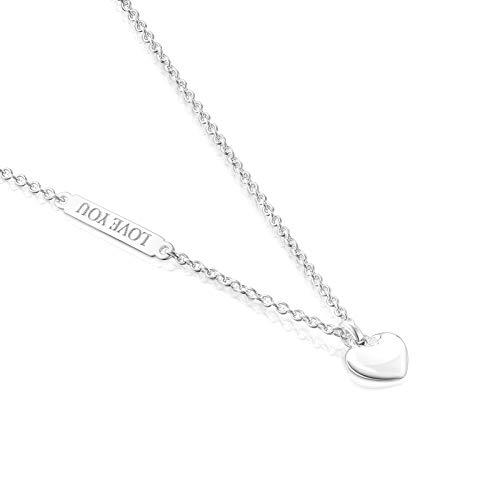 TOUS Collar San Valentín con colgante corazón de plata