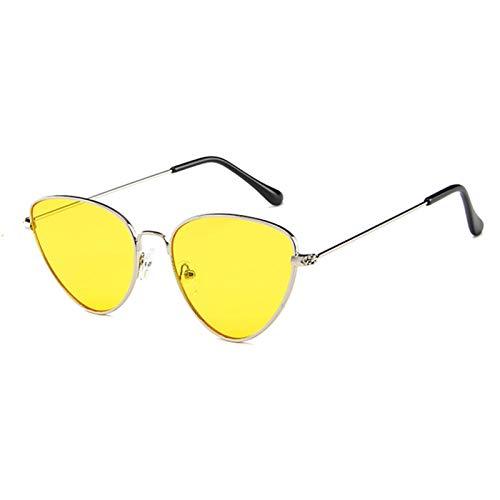 SCAYK Damas Gato Ojo Gafas de Sol Mujeres Gafas de Sol aleación Marco uv400 protección diseñador Gato Ojo Ojo Gafas de Sol Gafas Ojo Gafas de Sol Gafas de Sol para Mujeres (Lenses Color : C3Yellow)